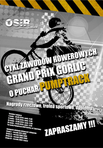 01.06.2019 (sobota) - Grand Prix Gorlic o puchar Pumptrack!